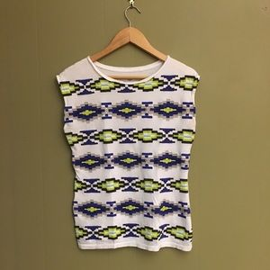 Crown & Ivy Aztec tank top-small